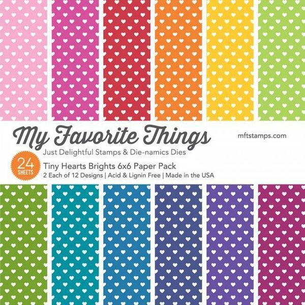 MFT Paper Pack - Tiny Hearts Brights