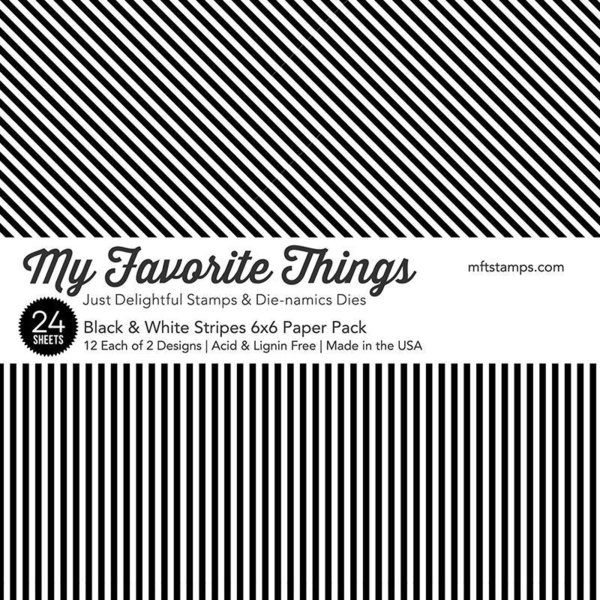 MFT Paper Pack - Black & White Stripes