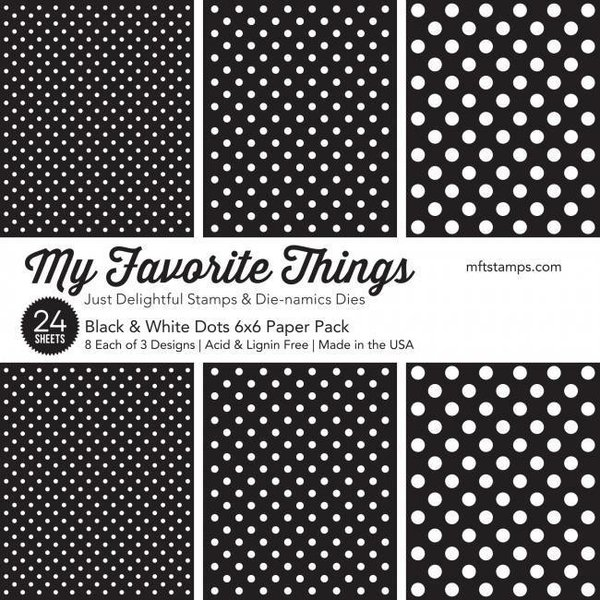 MFT Paper Pack -  Black & White Dots