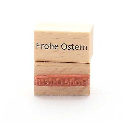 Holzstempel - Frohe Ostern