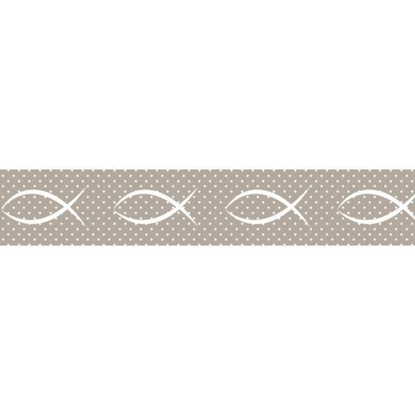 Washi Tape - Fischsymbol - Taupe