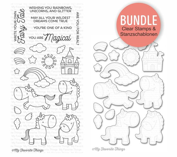 MFT Magical Unicorns Clearstampes & Die-namics Stanzschablonen - SPAR-BUNDLE