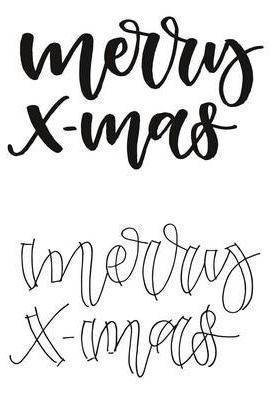 Clear Stamps - Handlettering Merry X-mas