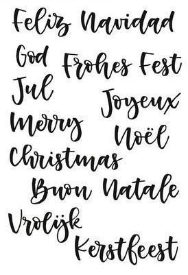 Clear Stamps - Handlettering Weihnachten international