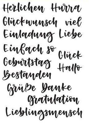 Clear Stamps - Handlettering Glückwunsch & Co.