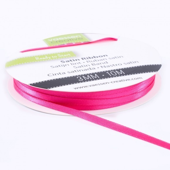 Satinband 3mm - Pink (10 Meter)