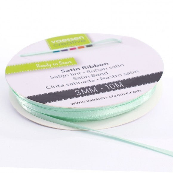 Satinband 3mm - Mint (10 Meter)