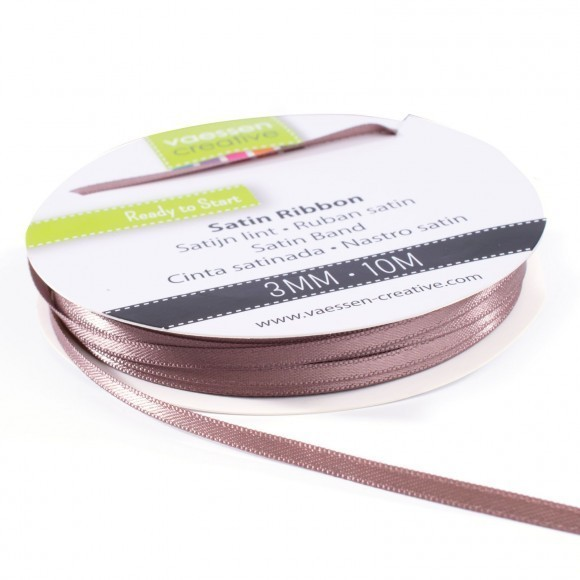 Satinband 3mm - Taupe (10 Meter)