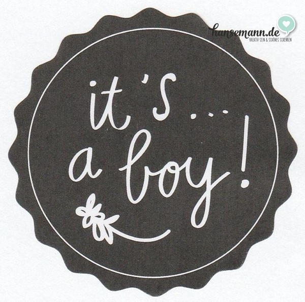 Runde Sticker - It's a Boy (16 Stück) Tafellook
