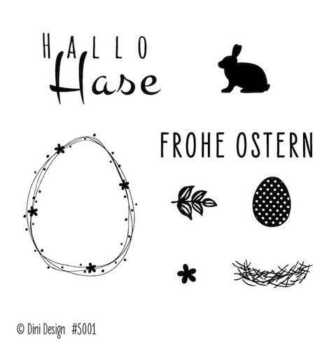 Dini Design Clear Stamp Set - Frohe Ostern