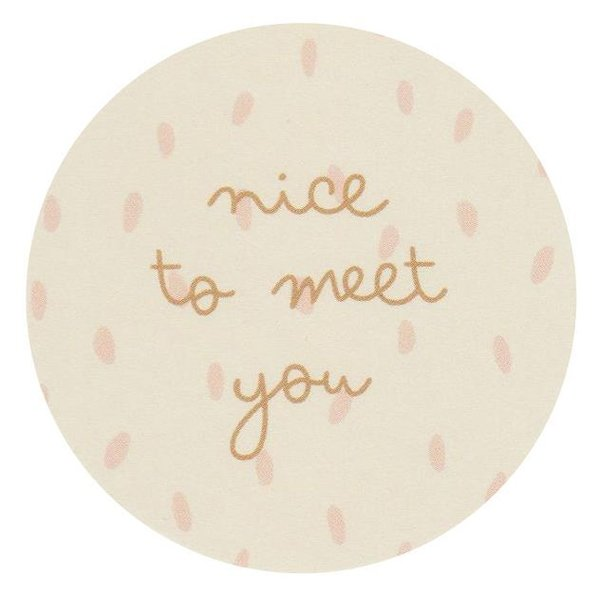 Sticker - nice to meet you (18 Stück) vanille-rose