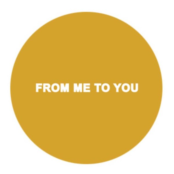 Runde Sticker - FROM ME TO YOU (18 Stück) Caramel