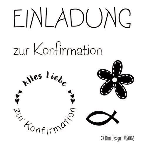 Dini Design Clear Stamp Set - Konfirmation