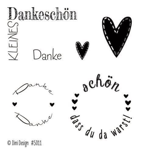 Dini Design Clear Stamp Set - Danke