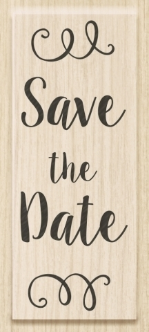 Holzstempel - Save the Date