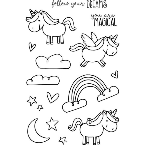 Clear Stamps - Unicorn & Rainbow